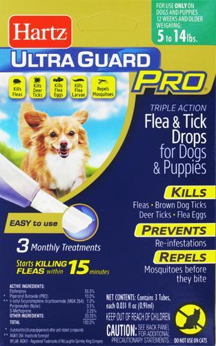 Hartz Ultra Guard Pro Flea Tick Treatment For Dogs And Puppies