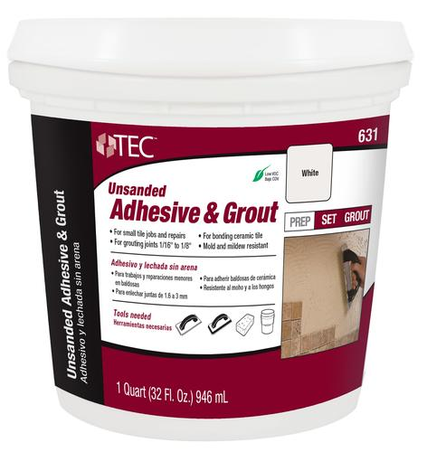 Tec Unsanded Pre Mixed Adhesive Grout 631 Mastic 1 Quart At Menards