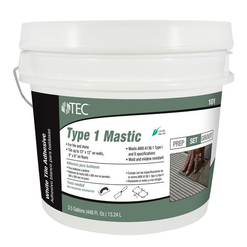 Tec Type 1 Mastic 101 3 5 Gal At Menards
