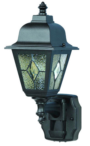 Heath Zenith Black Decorative Motion Sensor Light At Menards