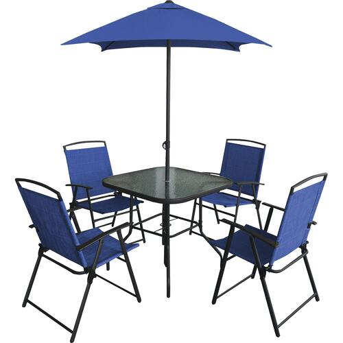6 Piece Folding Dining Patio Set At