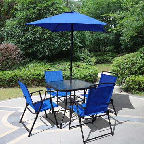 Backyard Creations® 6-Piece Folding Dining Patio Set at ...