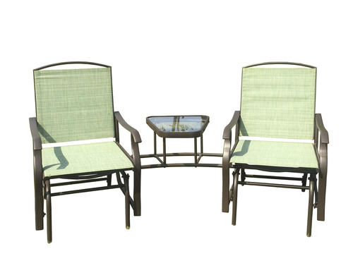 Backyard Creations Double Seat Glider With Coffee Table At
