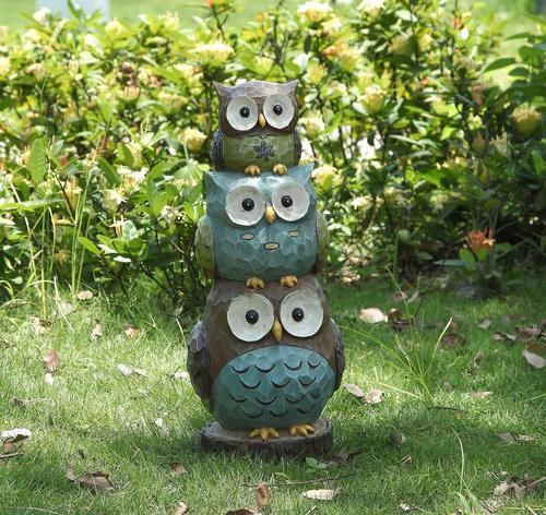 Awe Inspiring Enchanted Garden 17 Stacked Owl Statue At Menards Andrewgaddart Wooden Chair Designs For Living Room Andrewgaddartcom