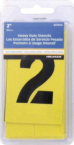 Letter Addressing Stencil.Hillman 2 Letter Number Stencil Pack At Menards