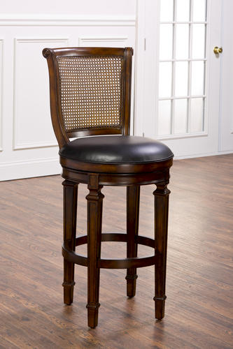 Dalton Seat Height Cane Back Bar Stool with Leather Seat at Menards