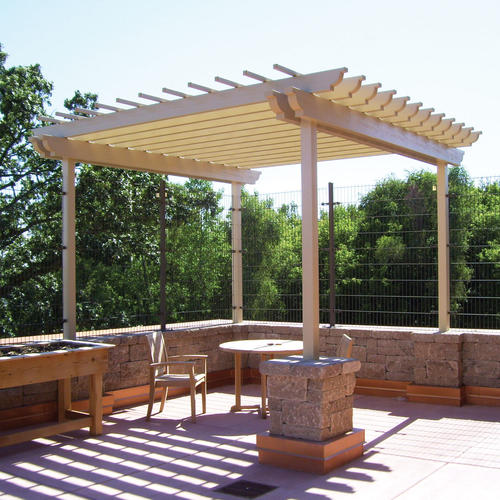 Americana Building Products 8' x 8' Double Header Freestand Pergola Kit - 30lb load rating