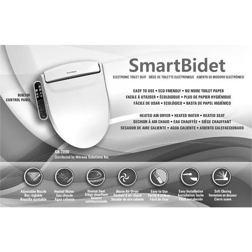 Peachy Smartbidet Electric White Bidet Toilet Seat For Elongated Alphanode Cool Chair Designs And Ideas Alphanodeonline