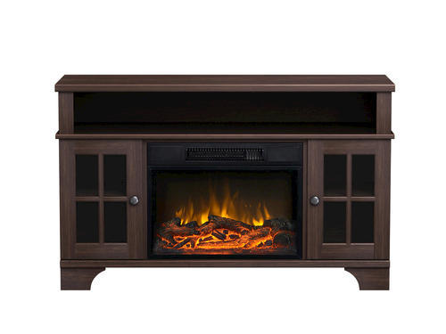 Masterflame Harris Distressed Oak Finish Electric Fireplace at ...