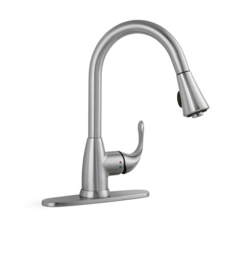 Tuscany Sharena One Handle Pull Down Stainless Kitchen Faucet At Menards