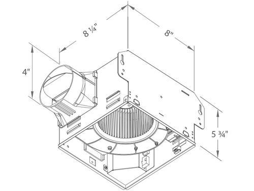 Delta Breez 80cfm Dimmable Led Ceiling Exhaust Bath Fan At Menards