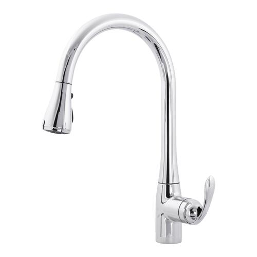 H2O Transitional Pull-Down Kitchen Faucet in Chrome at Menards®