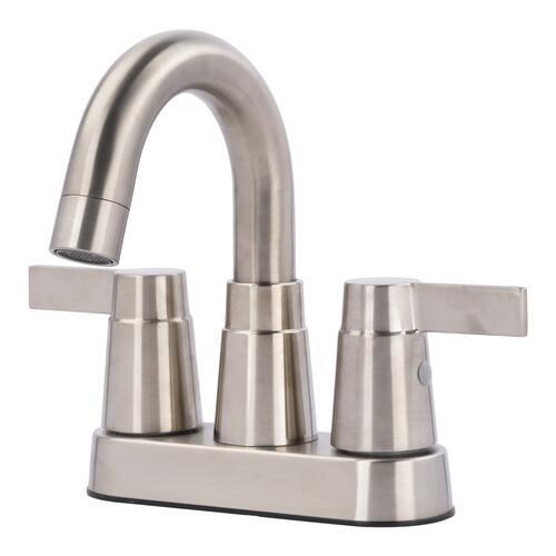 H2o Modern Two Handle 4 Centerset Bathroom Faucet At Menards