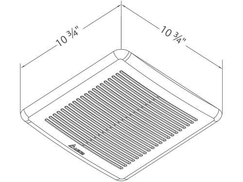 Delta Breez Bathroom Fans Sig80mled Breezsignature 80 Cfm