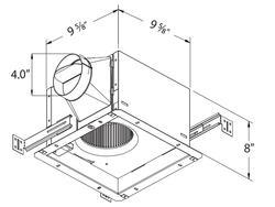 Delta Breez 130 Cfm Ceiling Exhaust Bath Fan With Humidity