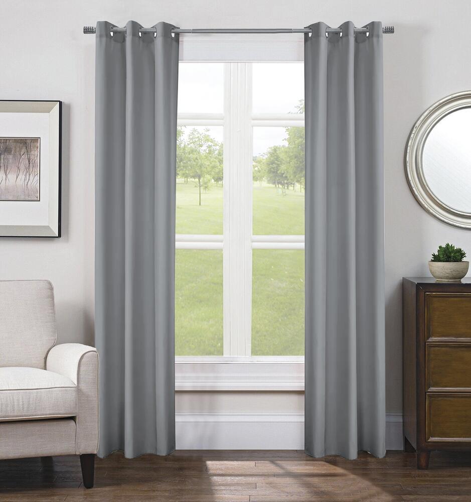 Faux Silk 40 W X 84 L Light Filtering Grommet Top Curtain Panel 2 Panels At Menards