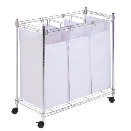 Honey Can Do® 6.8 Bushel Triple Laundry Sorter