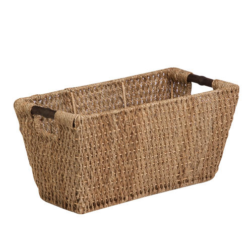 woven seagrass baskets with handles decorative storage boxes.htm honey can do   large natural brown seagrass basket at menards    large natural brown seagrass basket at
