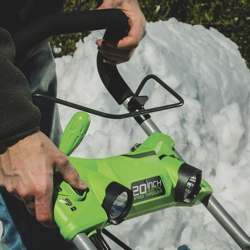 """Menards Snow Blowers >> Greenworks™ 20"""" 13-Amp Corded Electric Snow Blower with LED Light Kit at Menards®"""