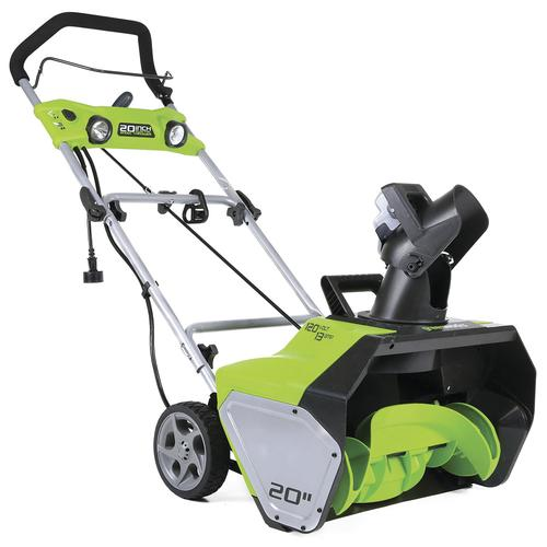 """Menards Snow Blowers >> Greenworks™ 20"""" 13-Amp Corded Electric Snow Blower with ..."""