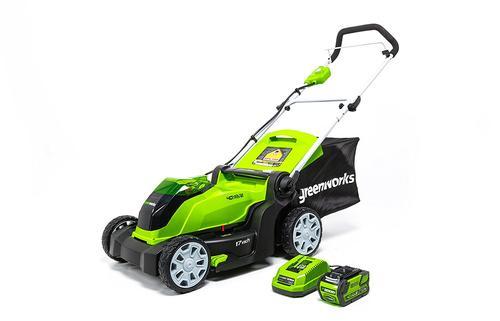 Greenworks 17 Quot 40 Volt Cordless Push Lawn Mower At Menards 174