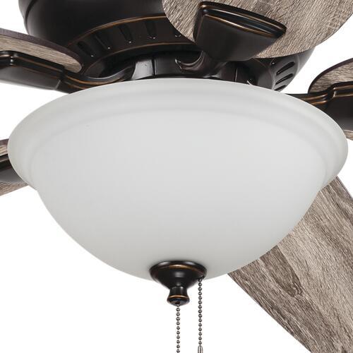 Patriot Lighting Lincoln Park Ii 52 Oil Rubbed Bronze Indoor Led Ceiling Fan At Menards