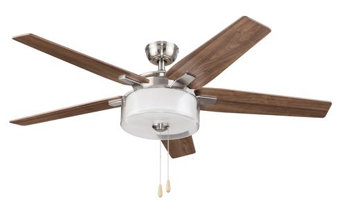 Turn of the century almena 52 brushed nickel ceiling fan with turn of the century almena 52 brushed nickel ceiling fan with integrated led light at menards mozeypictures Image collections