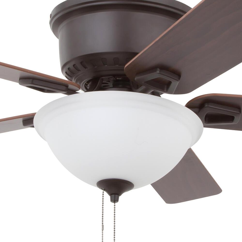 Patriot Lighting Alston 52 Bronze Indoor Led Ceiling Fan At Menards