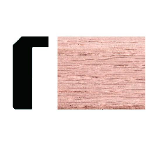Chicago Bar Rail Moulding Solid Red Oak Hardwood 1-1//8 x 4-1//2 x 96 in Moulding