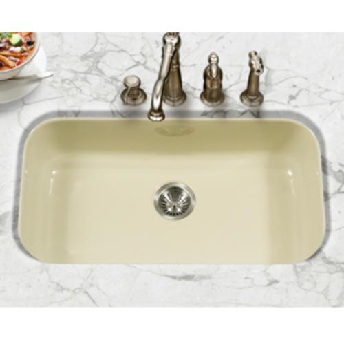 Houzer Undermount 31 Biscuit Porcelain Enameled Steel Single Bowl Kitchen Sink At Menards