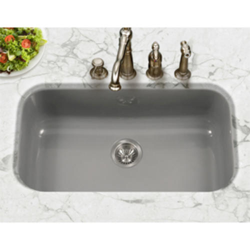 Houzer Undermount 31 Porcelain Enameled Steel Single Bowl Kitchen Sink