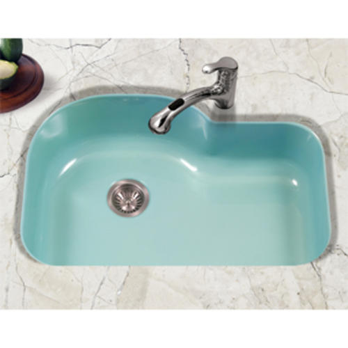 Houzer Undermount 31 1 4 Porcelain Enameled Steel Single Bowl Kitchen Sink