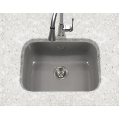 Houzer Undermount 22 3 4 Porcelain Enameled Steel Single Bowl Kitchen Sink