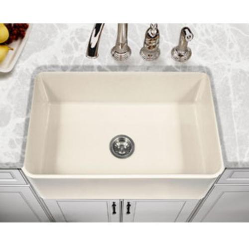 Houzer Platus Farmhouse Apron Front 30 Biscuit Fireclay Single Bowl Kitchen Sink At Menards