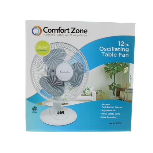 Comfort Zone 12 Quot Oscillating Table Fan At Menards 174