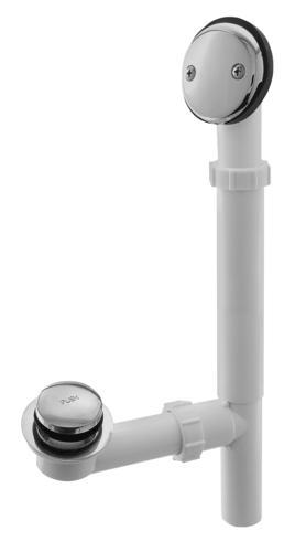 Plumb Works 174 Chrome Toe Touch Bathtub Drain Assembly At Menards 174