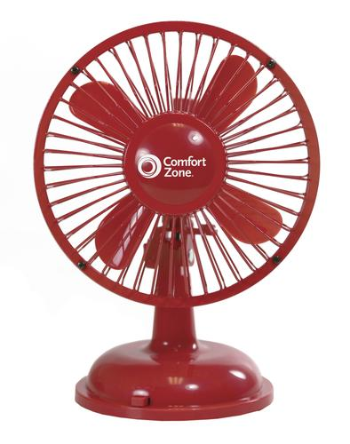 "Comfort Zone 5"" Oscillating Battery/USB Fan Assorted"