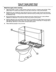 Plumb Works 174 Toilet Tank Drip Tray At Menards 174