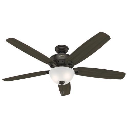 "Hunter® Capshaw 60"" Premier Bronze Ceiling Fan With Light"