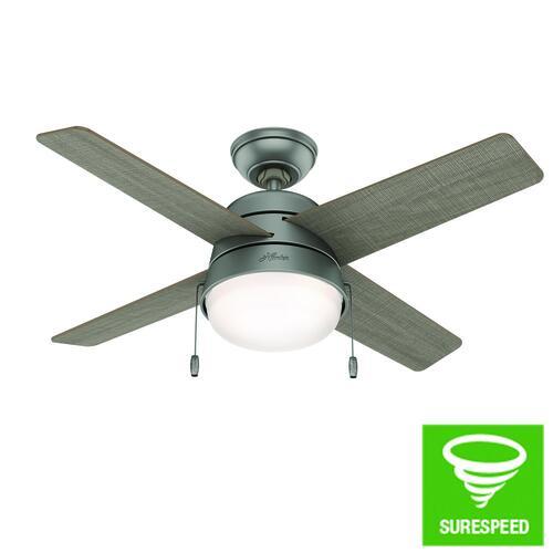 Matte Silver Indoor Outdoor Ceiling Fan