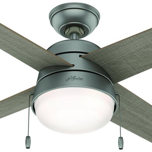 Hunter Fan Riverstone 42 Matte Silver Led Indoor Outdoor Ceiling Fan At Menards