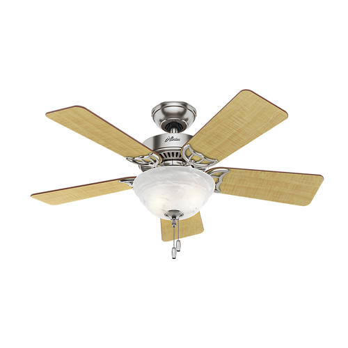 "Ceiling Fan Light Kit At Menards: Hunter® Fan Kensington 42"" Indoor Brushed Nickel Ceiling"