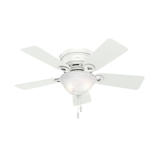 Hunter 174 Fan Conroy 42 Quot Indoor White Low Profile 174 Ceiling Fan With Light Kit At Menards 174