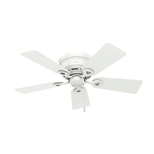 "Ceiling Fan Light Kit At Menards: Hunter® Fan Conroy 42"" Indoor White Low Profile® Ceiling"