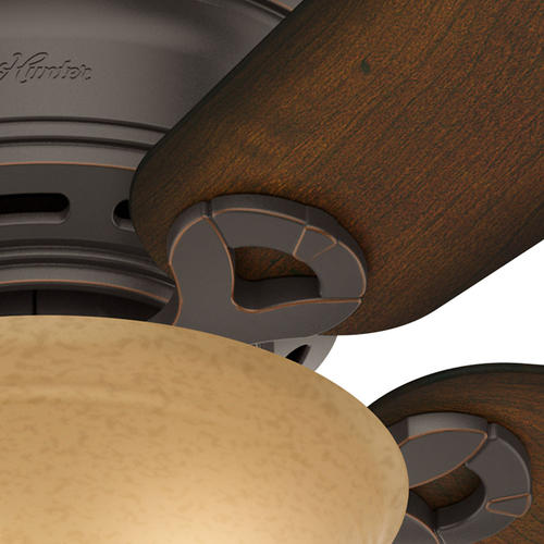 Hunter 174 Fan Conroy 42 Quot Indoor Onyx Bengal Bronze Low Profile 174 Ceiling Fan With Light Kit At Menards 174