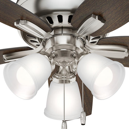 Hunter 174 Newsome 42 Quot Led Low Profile 174 Brushed Nickel