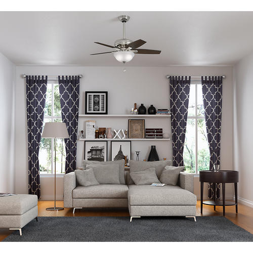 Hunter 42 Newsome Brushed Nickel Ceiling Fan with Light
