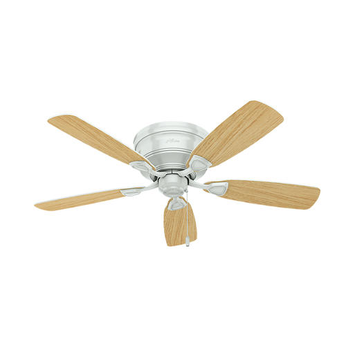 Hunter 174 Fan Low Profile 174 48 Quot Indoor White Ceiling Fan With Light Kit At Menards 174