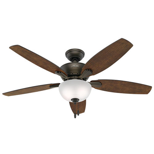 "Hunter Morelli 52 Led Brushed Nickel Ceiling Fan At Menards: Hunter® Bowmore 52"" LED Ceiling Fan At Menards®"
