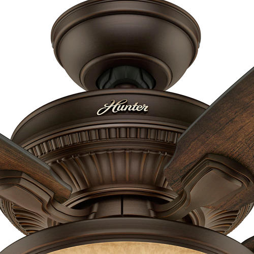 """Hunter® Ashbrook 48"""" Brushed Cocoa Ceiling Fan With Light"""